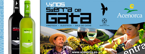 Billboard of Sierra de Gata wines